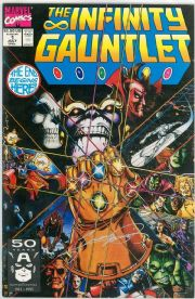 The Infinity Gauntlet #1 First Print Signed George Perez COA Avengers End Movie Marvel comic book
